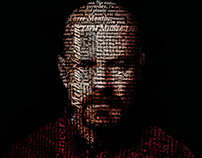 Seven Deadly Sins: Breaking Bad Typographic Portraits