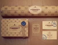 "Branding for Cafe-bakery ""Galician strudel"""