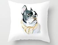 French Bulldog Watercolor