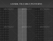 6 Dark Tileable Patterns