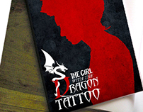 """""""The girl with the dragon tattoo"""" Book Cover"""