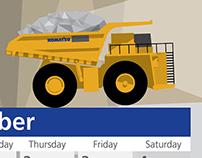 SMS Equipment's 2014 wall calendar