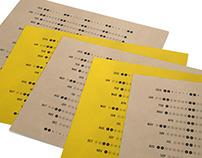 Letterpress Linear Calendar