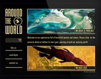 Around the world // IPad application design