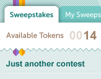 Sweepstakes iPhone App UI