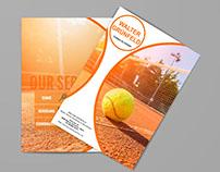 Diptico Walter Grünfelds Tennis Academy