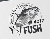 Fresh fish shop logo