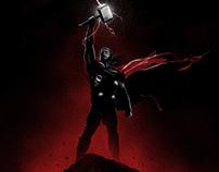 "Thor: The Dark World illustrated poster - ""Thor"""