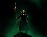 "Thor: The Dark World illustrated poster - ""Loki"""