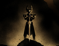 "Thor: The Dark World illustrated poster - ""Heimdall"""