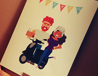 Character Vector Illustration - Happy Birthday