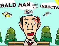 Bald man and the insects