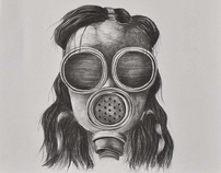'Fragile Things - Gas Mask Series' - Drawings 2010