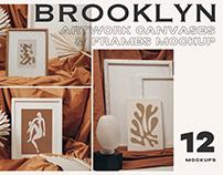Artwork Canvases & Frames Mockup