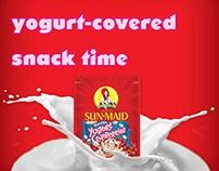 Sun-Maid Vanilla Yogurt Cranberries Ad Campaign - 2014