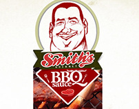 Smith's BBQ Sauce Label Design
