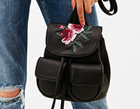 Bershka embroidered bag
