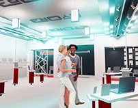 Spatial project for Eyore computers showroom