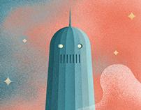 Retrofuturistic Lem posters