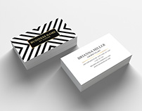 Business Card Template with Appointment Card