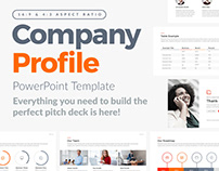 Free powerpoint template company profile pitch deck on behance company profile powerpoint template toneelgroepblik Gallery