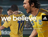 "Adidas ""we believe"""