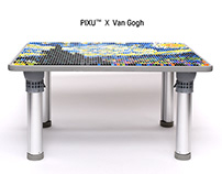 PIXU TABLE™ - LEGO® Compatible table with 23 color bloc