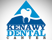 kenawy dental logo design