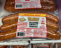 """LABEL/PACKAGING - """"Sausages"""""""