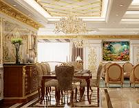 Classic apartment's reception