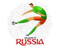 Welcome to Russia to play football! Football Players.