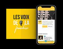 Les voix de la franchise | identité visuelle, website