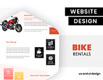 Bike rental UI design by BrandzGarage
