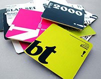 Typographic information coasters
