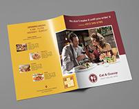 Eat & Gossip Bifold Brochure