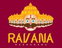 Ravana illustration logo