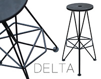 Metal bar stool Delta