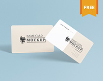 Free Exquisite Name Card Mockup PSD