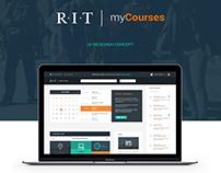 RIT myCourses - UI Redesign Concept