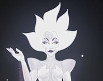 Steven Universe's White Diamond - Fan Art poster