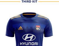 Olympique Lyonnais Football Kit 18/19.
