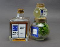Mint Julep Cocktail set - Label design