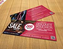 Free PSD : Sale Discount Voucher PSD Template