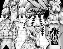 """Ilustracja do książki """"Księga Dżungli"""" wyd. Zysk I S-ka"""