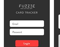 Fuzzie Card Tracker iOS app Wireframes