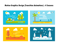 Motion Graphics Design - 4 Seasons
