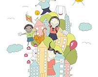 International Children's City Congress Illustration