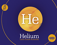 Helium. Latin, Greek & Scientific font