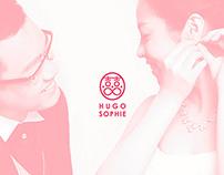 HUGO x SOPHIE wedding invitation card