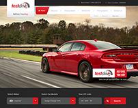 Test Drive Automobile Website Mockup